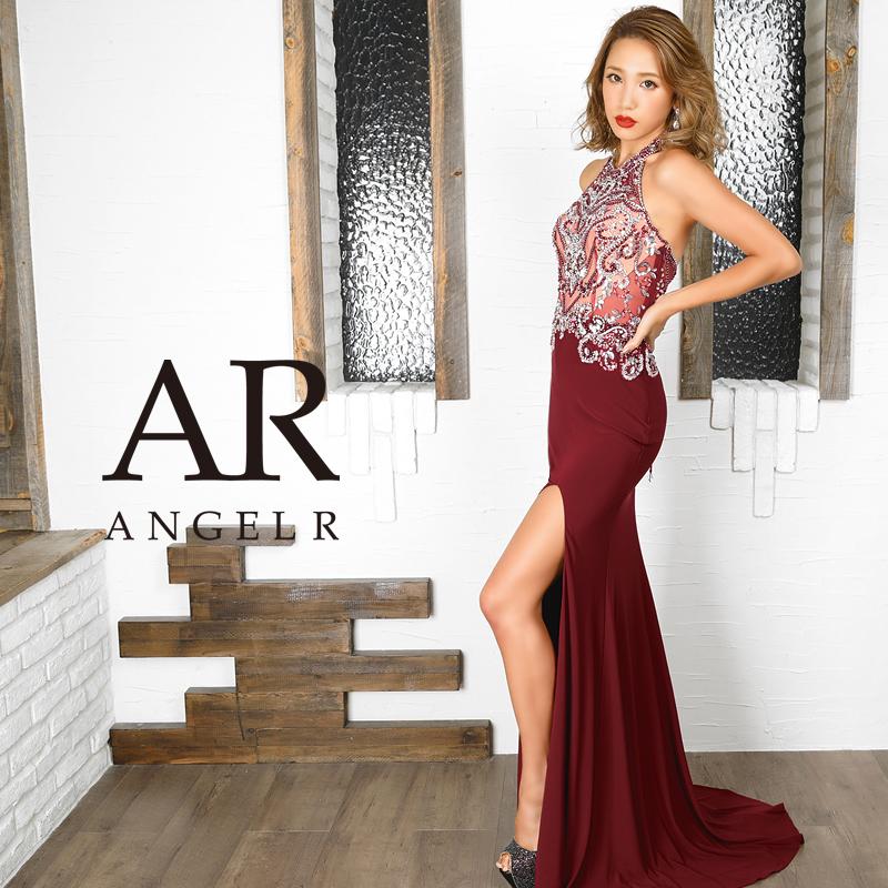 【予約】[ビジューデザインスリットタイトロングドレス]AngelR(エンジェルアール)|AR9835【11月下旬~12月上旬頃より発送】