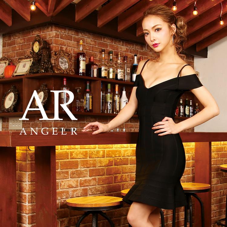 [オフショルダーペプラムスカートタイトミニバンデージドレス]AngelR(エンジェルアール)|AR9901