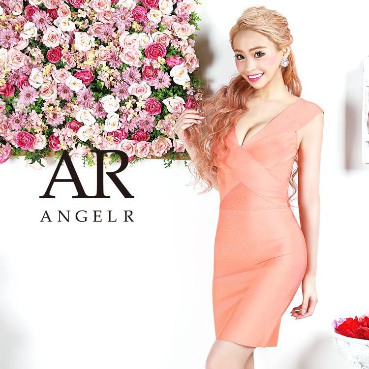 [クロスデザインノースリーブバンデージミニドレス]AngelR(エンジェルアール)|AR9906