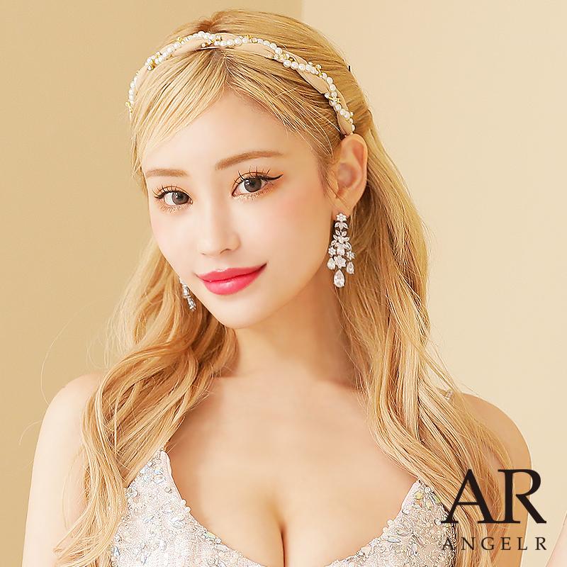 [パール&ビジューデザインカチューシャ]AngelR(エンジェルアール)|HA006YX