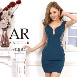 sugar(シュガー)コラボドレス[サイドラグジュアリービジュータイトミニドレス]AngelR(エンジェルアール) AR20216