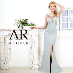 [デコルテビジューサイドレースタイトロングドレス]AngelR(エンジェルアール)|AR20308