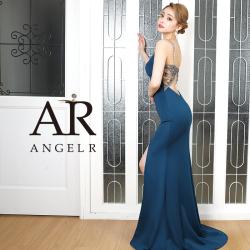 【予約】[ベージュ/Sサイズ][ブルー/Mサイズ]9月下旬から10月上旬より発送[バックビジューデザインタイトロングドレス]AngelR(エンジェルアール)|AR20321