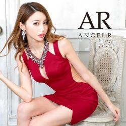 【予約】[デコルテビジューカッティングデザインタイトミニドレス]AngelR(エンジェルアール) AR20324【8月中旬~下旬頃より発送】