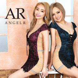 [サイドパールデザインレースアップタイトミニドレス]AngelR(エンジェルアール) AR20336