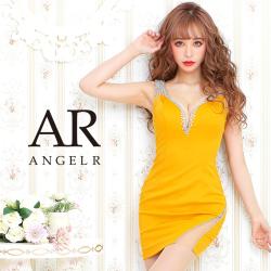 【予約(マスタード/S・M)(レッド/S・M)(ホワイト/S)1月下旬発送】[アシンメトリービジューショルダータイトミニドレス]AngelR(エンジェルアール)|AR20341