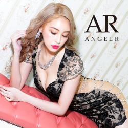 【予約/11月上旬~中旬頃より発送】[ビジュースリーブデザインローズレースタイトミニドレス]AngelR(エンジェルアール)|AR20343