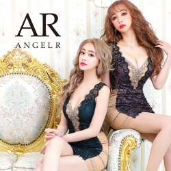 [サイドビジューレースデザインタイトミニドレス]AngelR(エンジェルアール) AR20344