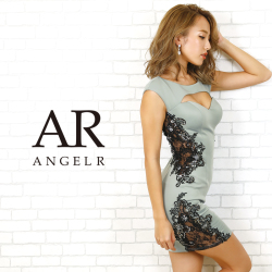 【予約】[フラワーレースビジュータイトミニドレス]AngelR(エンジェルアール)|AR20805【2月中旬~下旬頃より発送】