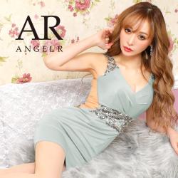 [ウエストビジューサイドシアータイトミニドレス]AngelR(エンジェルアール)|AR20807