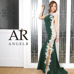 [サイドフラワーレースデザインタイトロングドレス]AngelR(エンジェルアール)|AR20818