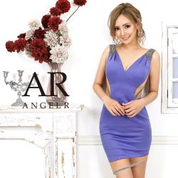 [ショルダービジューサイド&スカートシアータイトミニドレス]AngelR(エンジェルアール)|AR20821