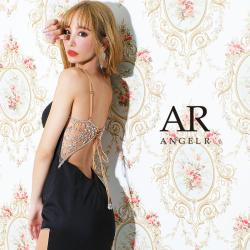 [フロントダイヤカットビジューバックビジュータイトミニドレス]AngelR(エンジェルアール) AR21223