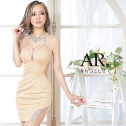 [デコルテビジューバックシースルータイトミニドレス]AngelR(エンジェルアール) AR21228