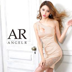 【予約/1月中旬から下旬より発送】[バストカットビジューワンショルダータイトミニドレス]AngelR(エンジェルアール)|AR21302