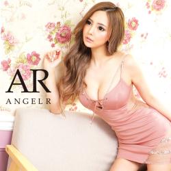 【予約/3月下旬から4月上旬より発送】[バストレースアップアシンメトリータイトミニドレス]AngelR(エンジェルアール)|AR21309