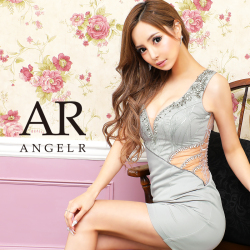 [レース刺繍&ビジューパターンタイトミニドレス]AngelR(エンジェルアール) AR21310