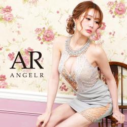 【予約】[ホワイト・ピンク/XSサイズ][ホワイト・ブラック・ピンク/Mサイズ]10月下旬から11月上旬より発送[デコルテビジューアッパーレースタイトミニドレス]AngelR(エンジェルアール) AR21311