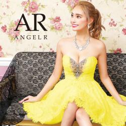 [バストビジューシアーレースフレアミニドレス]AngelR(エンジェルアール) AR21313