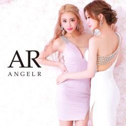 [ワンショルダーバックデザインビジュータイトミニドレス]AngelR(エンジェルアール)|AR21316