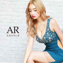 [フロントビジューカットクロスビジュータイトミニドレス]AngelR(エンジェルアール)|AR21331