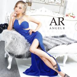 [アシンメトリーデコルテビジュータイトロングドレス]AngelR(エンジェルアール) AR21344