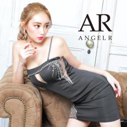 [アシンメトリービジューデザインワンショルダータイトミニドレス]AngelR(エンジェルアール)|AR21803