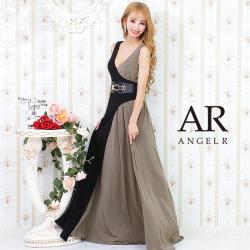 [バイカラーウエストベルトロングドレス]AngelR(エンジェルアール) AR21825