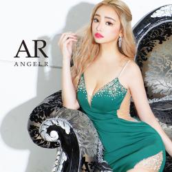 [フロントビジューサイドカッティングタイトミニドレス]AngelR(エンジェルアール) AR21827