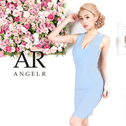 タイト系 ワンピース ミニドレス バンデージドレス ストレッチ 切り替え 胸元・背中開き|高級キャバドレスAngelR(エンジェルアール)|(AR7901)