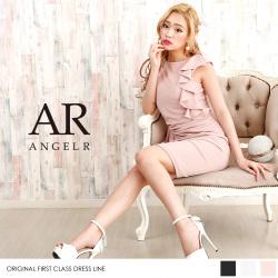[フレンチスリーブデザインフリルストレッチワンピース]Angel R(エンジェルアール)AR8217