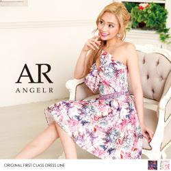 [デコルテリボンフラワーフレアミニドレス]Angel R(エンジェルアール) AR8221