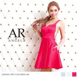 [デコルテデザインカットフレアスカートドレス]Angel R(エンジェルアール)|AR8225