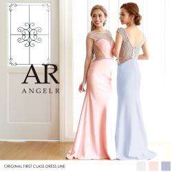 [デコルテ・バックシアービジューロングドレス]Angel R(エンジェルアール)|AR8231