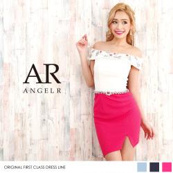 [オフショルダービジューバイカラーワンピースドレス]Angel R(エンジェルアール)|AR8318
