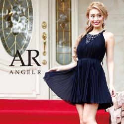 [シフォンプリーツフレアミニドレス]Angel R(エンジェルアール)|AR8337
