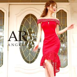 [ビジュースリーブサイドシアーマーメイドスカートタイトドレス]Angel R(エンジェルアール)|AR8339