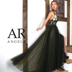 [チョーカー付きホルターフレアロングドレス]Angel R(エンジェルアール) AR8810