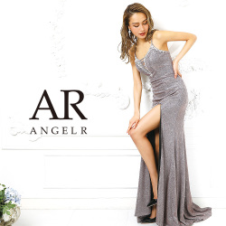 [ラメ生地深Vカットタイトロングドレス]AngelR(エンジェルアール)|AR9103