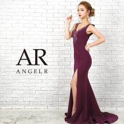 [デコルテビジューバックデザインタイトロングドレス]Angel R(エンジェルアール)|AR9205