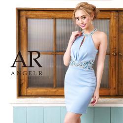 [ウエストビジューデコルテ&バックデザインカットタイトミニドレス]AngelR(エンジェルアール)|AR9208
