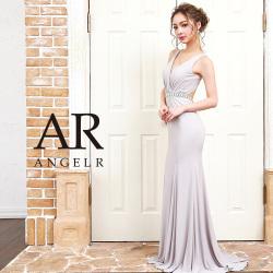 [ウエストビジュートップギャザーデザインタイトロングドレス]AngelR(エンジェルアール) AR9210