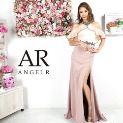 [フリルスリーブバイカラーロングドレス]AngelR(エンジェルアール)|AR9223