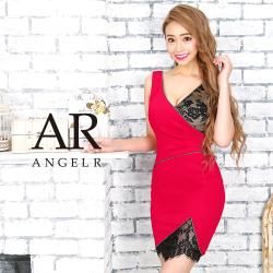 【予約】[レース切替えクロスタイトミニドレス]AngelR(エンジェルアール)|AR9228【9月中旬~下旬頃より発送】