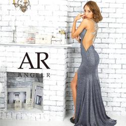 [バックビジューデザイングリッターラメタイトロングドレス]AngelR(エンジェルアール) AR9234