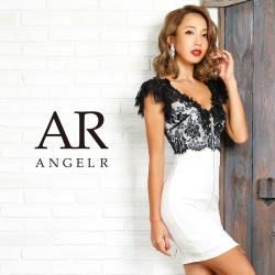 [袖レースフロントジップデザインタイトミニドレス]AngelR(エンジェルアール)|AR9238