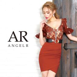 [フラワーレースデザインフリルタイトミニドレス]AngelR(エンジェルアール) AR9239