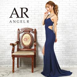 [ローズ柄ウエストデザインカットタイトロングドレス]Angel R(エンジェルアール)|AR9306