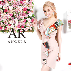 [スカーフ柄フリルタイトミニドレス]AngelR(エンジェルアール)|AR9329