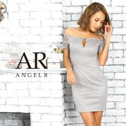 [レーススリーブオフショルダータイトミニドレス]AngelR(エンジェルアール)|AR9336